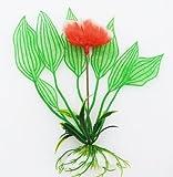 "Aquarium Terrarium Wasserpflanze 12cm ""Rose"" auf Stein PF37"