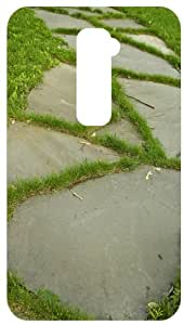 Grass Sidewalk White Back Cover Case for LG Optimus G2