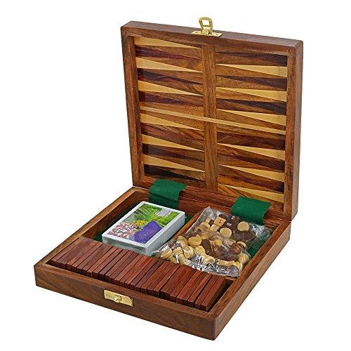 Juego De Mesa De Madera Para Los Adultos Tres En Uno Backgammon