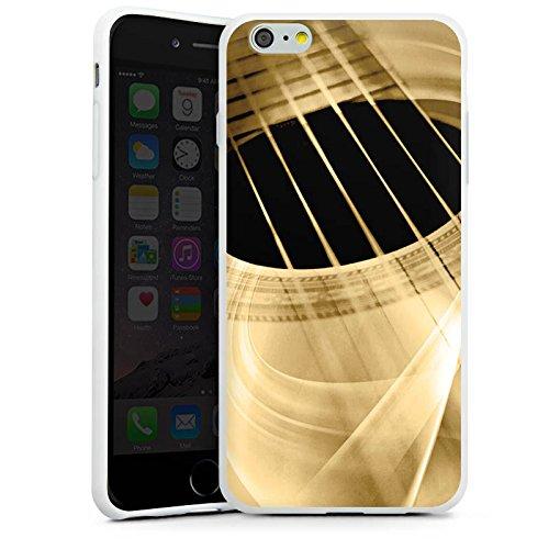 Apple iPhone 7 Silikon Hülle Case Schutzhülle Gitarre Instrument Saiten Silikon Case weiß