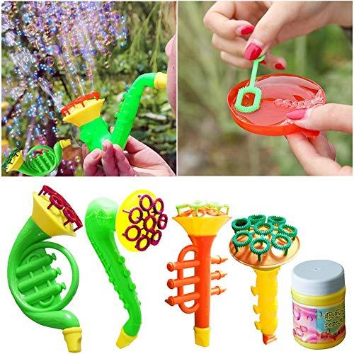 lasen Blase Seife Spielzeug - Horn Saxophon Form Outdoor Kids Kinderspielzeug, Sommerspielzeug, Geburtstagsgeschenk, Bubble Blower Toy ()
