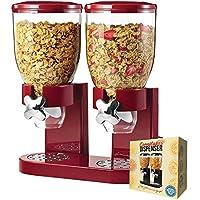 mikamax - Dispensador de copos de maíz - Rojo - Recipientes de cereales - Con 2