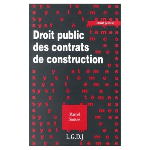 Droit public des contrats de construction