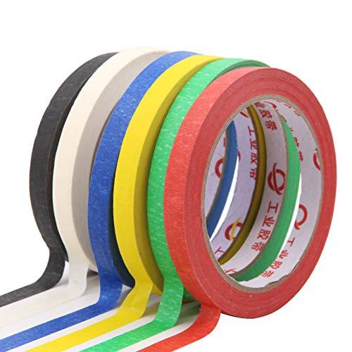 Maler-Kreppband, 6 Stück, Mehrzweck-Klebeband, Klebeband, 30 m, mehrfarbig, verschiedene Farben