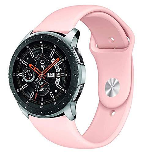 Galaxy 46mm / Samsung Gear S3 Frontier/S3 Classic, Colorful 22mm Weiches Silikon Sport Uhrenarmband Einstellbar Erstatzband,Damen Herren (Rosa) ()
