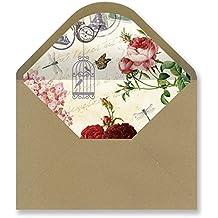 Sobres forrados invitaciones - KRAFT VINTAGE 229x162 mm. (varios modelos) (postal antigua-01)
