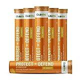 Vitamin C 1000mg Effervescent Tablets - Orange Flavour - 6 Tube of 20 Tablets (120) - Club Vits