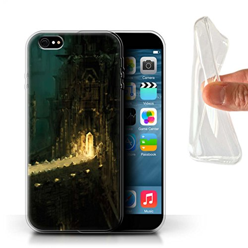Offiziell Chris Cold Hülle / Gel TPU Case für Apple iPhone 6S+/Plus / Apokalypse Muster / Gefallene Erde Kollektion Dragonfel Tempel