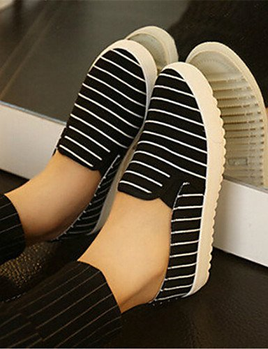 ZQ gyht Scarpe Donna-Mocassini-Tempo libero / Casual / Scarpe comode-Creepers-Plateau-Di corda-Nero / Blu / Bianco , white-us9 / eu40 / uk7 / cn41 , white-us9 / eu40 / uk7 / cn41 white-us7.5 / eu38 / uk5.5 / cn38