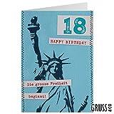 Grußkarte Filz - Die grosse Freiheit zum 18 - Geburtstagskarte - 01