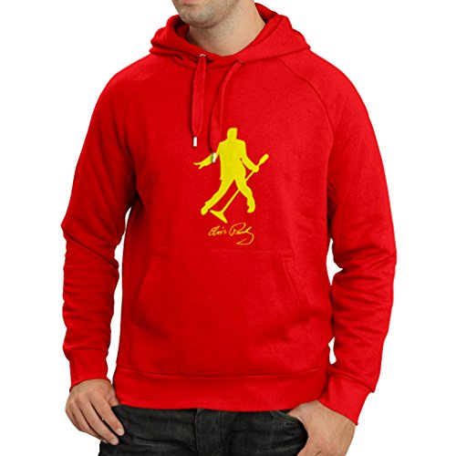 Kapuzenpullover Ich Liebe Dich Elvis - Fan-Outfits, Konzertkleidung (Small Rot Gelb) (Herren-basketball Drake -)