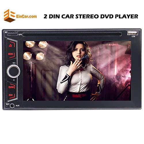 EINCAR Win 8 Lärm 2 6.2 Zoll-Screen-Autoradio mit Bluetooth DVD/CD-Player Auto-Radio-FM/AM/USB/SD/AUX/RDS/Subwoofer & Lenkrad-Steuerung Fernbedienung
