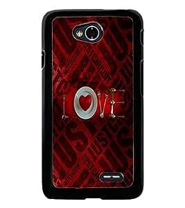 PrintDhaba Love D-5036 Back Case Cover for LG L90 (Multi-Coloured)