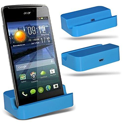 ( Blue ) Huawei Ascend Y540 Hülle Abdeckung Cover Case schutzhülle Tasche Custom Made Micro-USB-Desktop Charging Dock Mount Stand von ONX3®