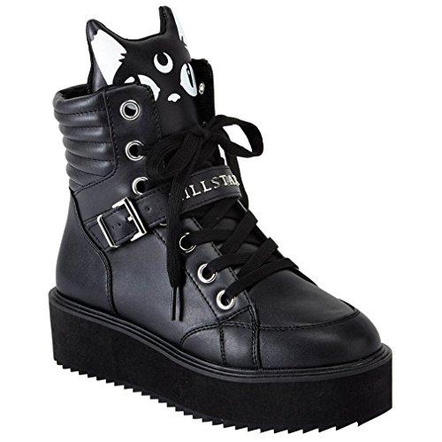 Killstar Botas de Material Sintético Para Mujer Negro Negro One Size, Color Negro, Talla 38 EU