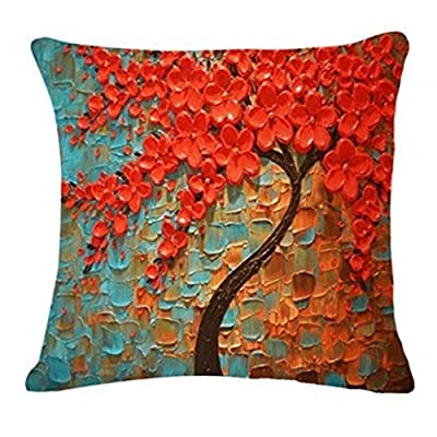 Cushion Covers,LMMVP Fashion Tree Leaves Sofa Bed Home Decoration Festival Pillow Case Cushion Cover - low-cost UK light shop.