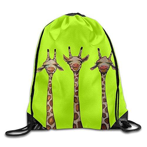 Etryrt Turnbeutel/Bedruckte Sportbeutel, Premium Drawstring Gym Bag, Drawstring Backpack Giraffe Print Rucksack Shoulder Bags Gym Bag 17