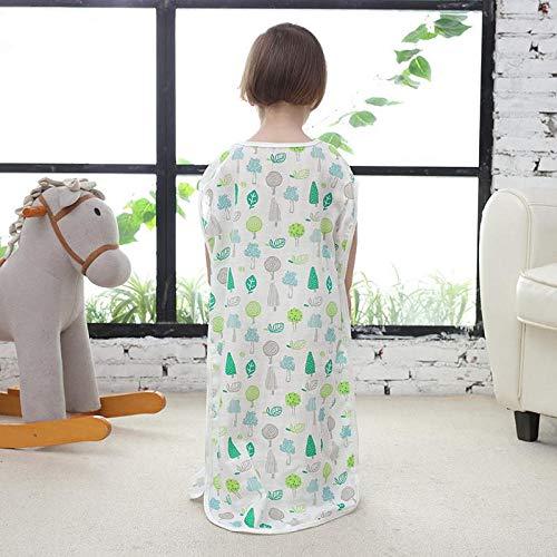 100% Baumwolle Babyschlafsack Kindersommer Klimatisiertes Zimmer Ultradünner Anti-Kick-Quilt Höhe 65-120 cm Kinderschlafsack Multifunktionale Wickeldecke