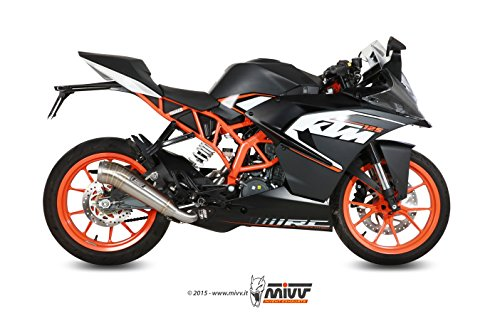 Preisvergleich Produktbild MIVV-Auspuff KTM RC 125 Bj.ab 2014 (GHIBLI, Edelstahl, Motorrad)