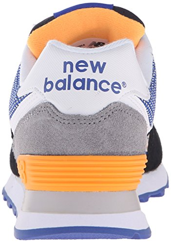 New Balance 574 Lifestyle Suede/Textile, Gymnastique femme Nero (Black/Grey)