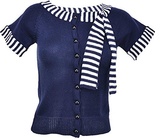 Küstenluder Damen Oberteil Margery Strickjacke Pullover S