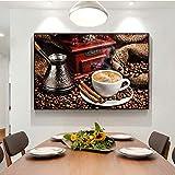 Kaffee Gewürz Muster Kunst Küche Lebensmittel Leinwand