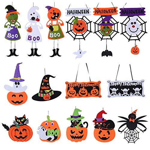 merymall Colgante de Halloween, elementos decorativos No tejidos Bruja prisionero Reaper Props decoración de la puerta 1 pcs