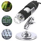 YOMYM Digitales Mikroskop Digital Mikroskop Endoskop USB Mikroskop Vergrößerung 8 LED-1000x USB-Mikroskop für Windows 2000, XP, VISTA, WIN 7, WIN 8, WIN 10, MAC und Linux