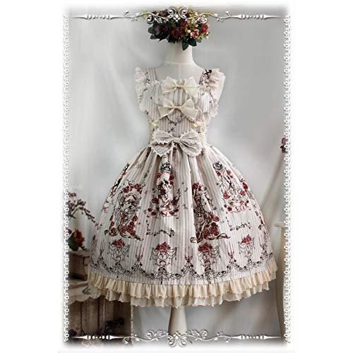 ginal Blumendruck Baumwolle Süßes Lolita Kleid Viktorianisches Tangled Jsk Partykleid ()