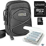 "SET für Canon Powershot SX160 SX150 SX130 SX120 SX110 --- Nikon CoolPix L610 L620 --- mit Bundlestar BAXXTAR II Tasche + Sanyo Eneloop AA Mignon Accu Batterien ""neueste Generation / Krönchen HR-3UTGA"" mit Accusafe (1900 mAh, 1,2 Volt) 4 Stück + Kingston Micro SDHC 16GB Class10 mit Adapter !!"