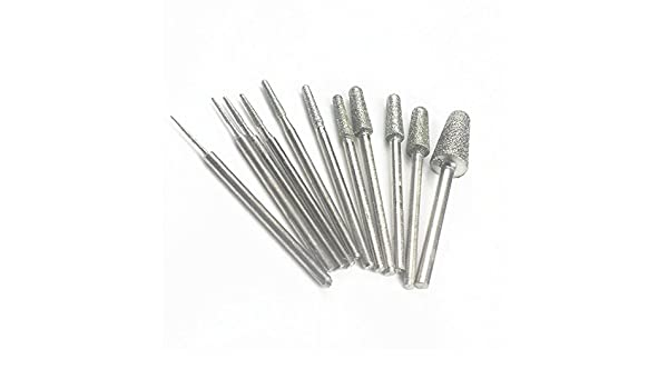MoMark/® 8 kinds of shapes 2.35mm Shank Diamond Grinding Burr Drill Bits Sets for Dremel Rotary Tools