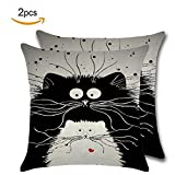Best Linen Store Furniture Couches - Throw Pillow Covers Cute Animal Cartoon Linen Decorative Review
