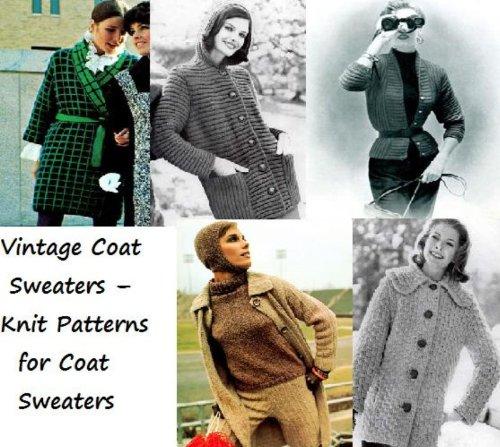 Jahrgang Mantel Pullover-stricken Muster für Mantel Pullover