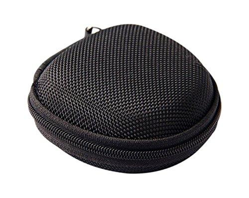 Usa Echt Leder Gürtel Tasche (Stillshine - Tragbare Mini-Schöne Geldbörse Kopfhörer Earbuds Fall Tasche Inhaber Mit Reißverschluss Geschenk (Schwarz))