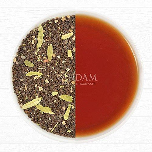 Get Cardamom Chai Spiced Black Tea, Premium Assam CTC Blended with Fresh Indian Cardamom (Elaichi), Loose Tea, 3.53oz/100g (Makes 35-40 Cups) - Vahdam Teas
