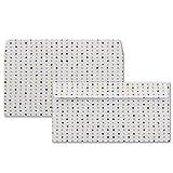 25x Briefumschläge mit farbigen Punkten   DIN Lang  Farbe: Weiß (mit farbigen Punkten)   Haftklebung mit Abziehstreifen   110 x 220 mm   80 g/m²   Marke: GUSTAV NEUSER®