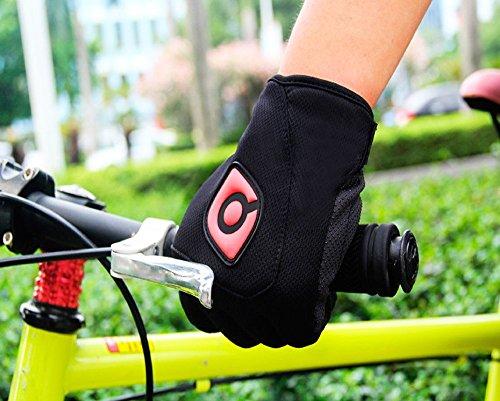 QEPAE® Rutschfeste Gel Polster Fahrrad Handschuhe Herren Damen mit dem Klettverschluss geeignet für Fahrrad Reiten Radsport Camping und mehr Sports im Freien - 5