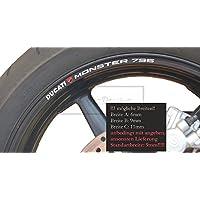 FELGENRANDAUFKLEBER passend für Ducati 1098 GP rot-weiß
