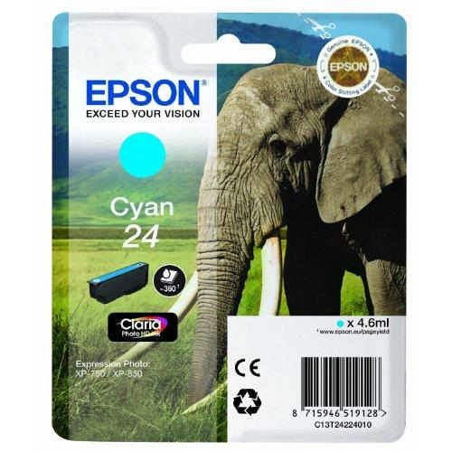 1x Cartouche d'encre d'origine pour EPSON Expression Photo XP 760, c13t24224010–de cyan