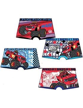 Pack de 4 boxers multicolor (4 modelos diferentes) diseño BLAZE y los Monster Machines tallas 2/3, 4/5 y 6/8 años