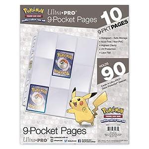 Ultra Pro E-84971 Ultra Pro-9-Pocket 11 páginas de Agujeros-Pokemon (10 Unidades)