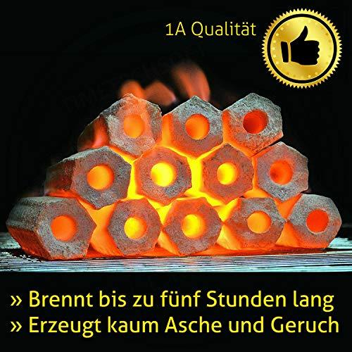 Kokos Grill Briketts Holzkohle Turquoise 10 kg > brennt fünf Stunden <