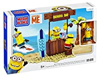 Metti sul tuo gonna hula e danza modo alla banana bar con il da spiaggia giorno figure della serie Cattivissimo Me Mega Bloks. Il set Include la barra di banana, tavole da surf, una palma e tre da collezione Minions con parti intercambiabili...