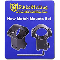 Nikko Stirling - Lot de 2 fixations de lunette de tir, 2,5 cm de haut, rail Dovetail 11 mm - NSMM138H
