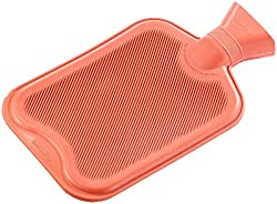 PEARL Wärmeflaschen: XL-Wärmflasche rot, 2 Liter (Kinder-Wärme-Flasche)