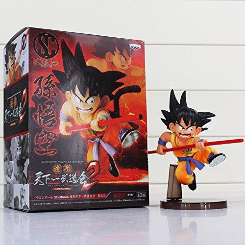 Dragon Ball Z Figura Juguetes 16cm Son Goku Childhood Edition Scultures Big PVC Figuras de acción Muñeca PVC Modelo Juguetes