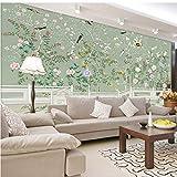 Décoration Murale Style européen Oiseau Fleur Image 3D Murale Moderne Simple Salon Canapé Toile De Fond Mur Étude Intérieur Home Decor 3D Papier Peint-250 X 200CM