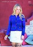 Sirdar Ladies Giselle Aran Chanel-Style Jacket Knitting Pattern 9891