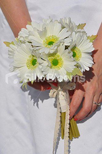 Künstliche Elfenbein Gerbera Bridesmaid Wedding Bouquet (Rustikale Bouquet)
