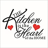 """The Kitchen is the heart of the home"" Removable Kinchen Room Wall Decals Decor"